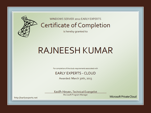 Early Experts Cloud