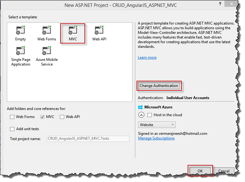 CRUD Operation in ASP.NET MVC 4 and AngularJS